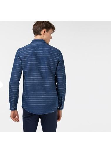 Lacoste Erkek Slim Fit Gömlek CH0102.02L Mavi